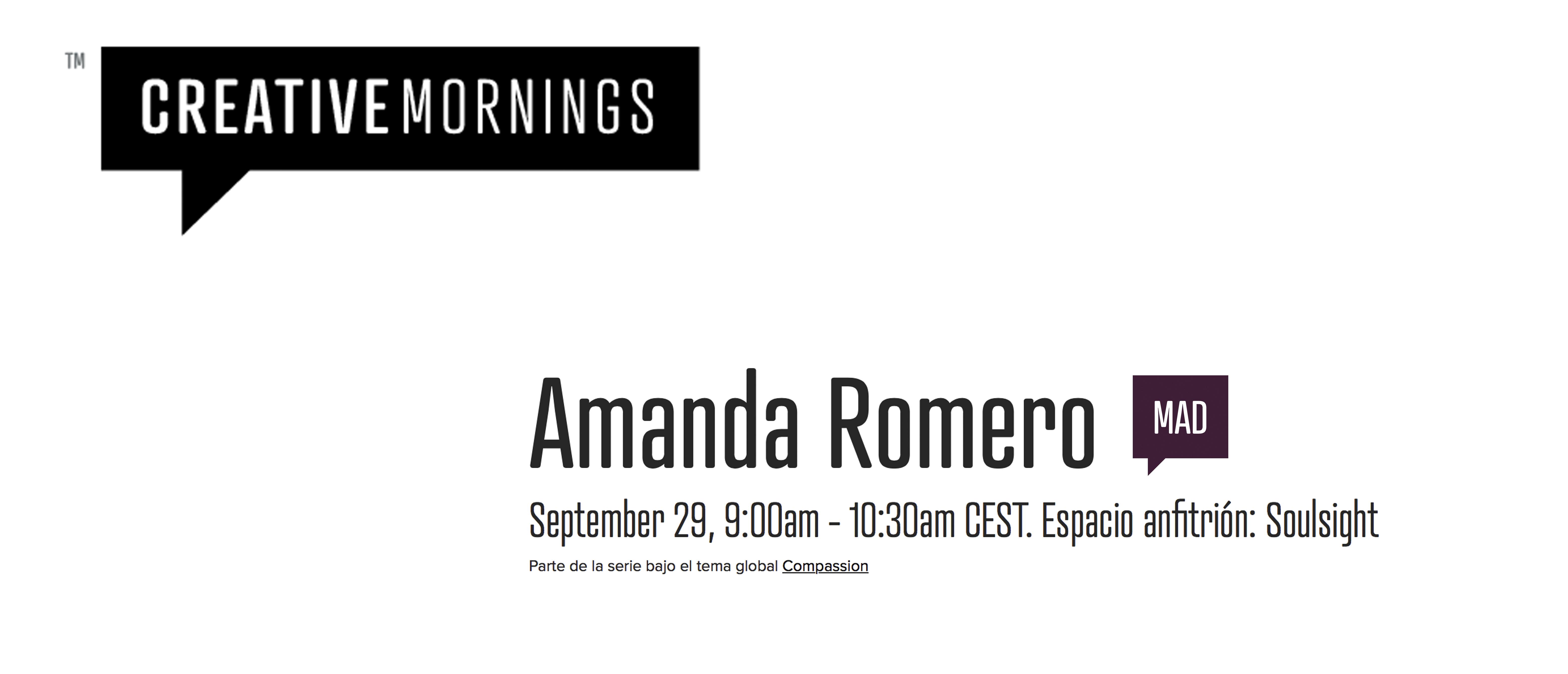 Creative Mornings con Amanda Romero @ oficinas de Soulsight | Madrid | Comunidad de Madrid | España